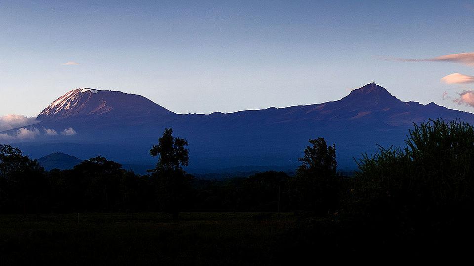 The Kibo (left) and Mawenzi (right) Cones of Mt. Kilimanjaro